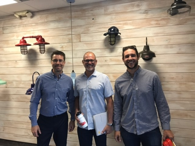 Jorge Borrelli (Center) and Ross Piper (Right) visit Barn Light Electric.